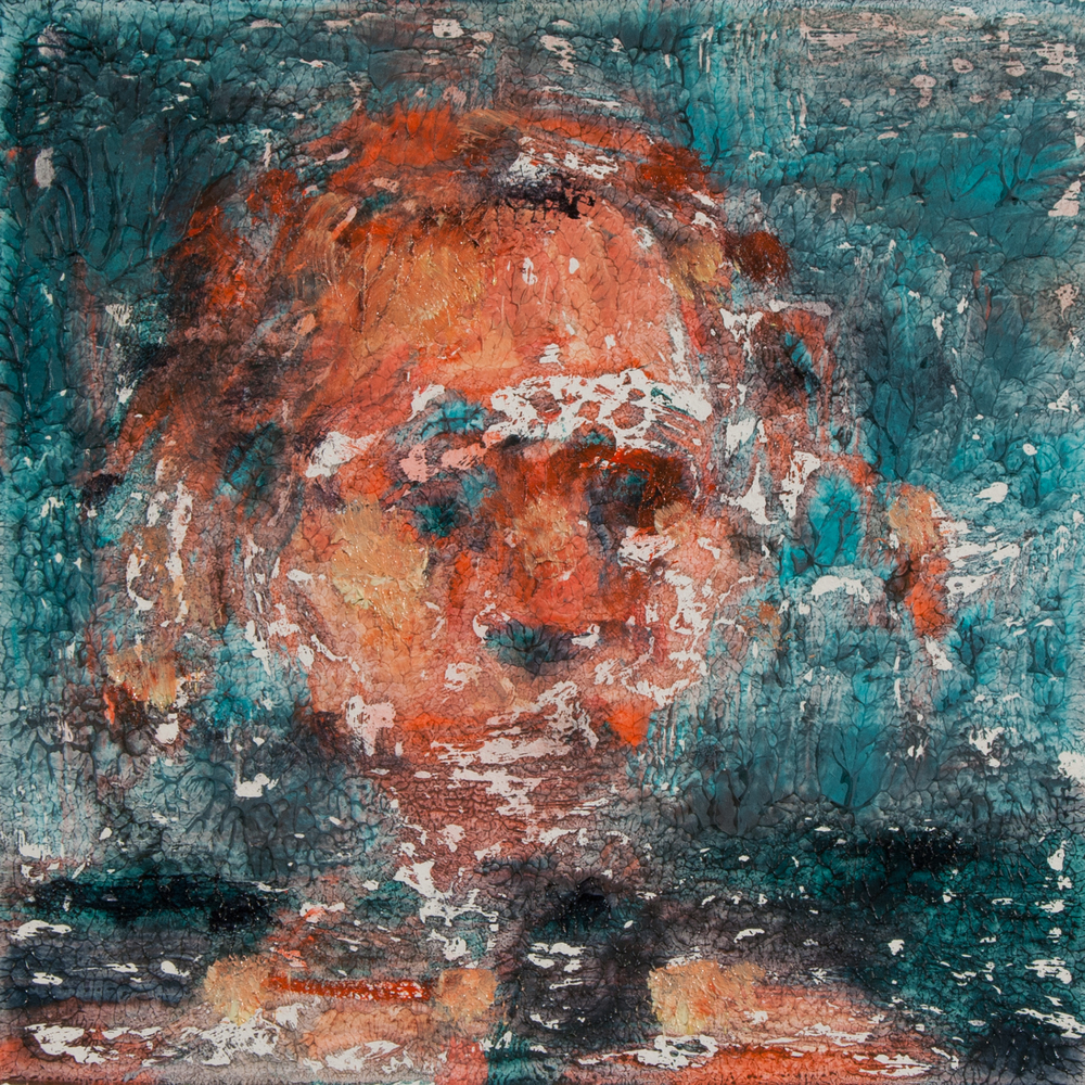 "'Watcher', monotype, 3"" x 3"", 2014"