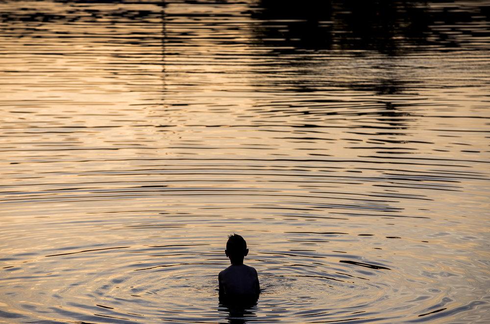 "'Healing Waters', 24"" x 36"" (framed), photographed 2017 in Bosnia-Herzegovina"