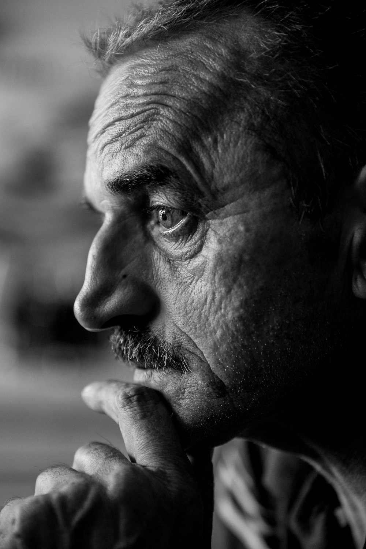 "'Profile of War', 36"" x 24"" (framed), photographed 2017 in Bosnia-Herzegovina"
