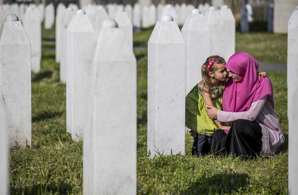 "'Remember', 24"" x 36"" (framed), photographed 2017 in Bosnia-Herzegovina"