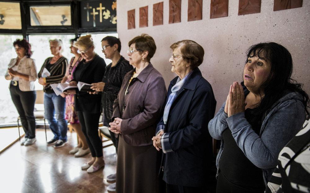 """'Srebrenica Prayer', 24"""" x 36"""" (framed), photographed 2017 in Bosnia-Herzegovina"""