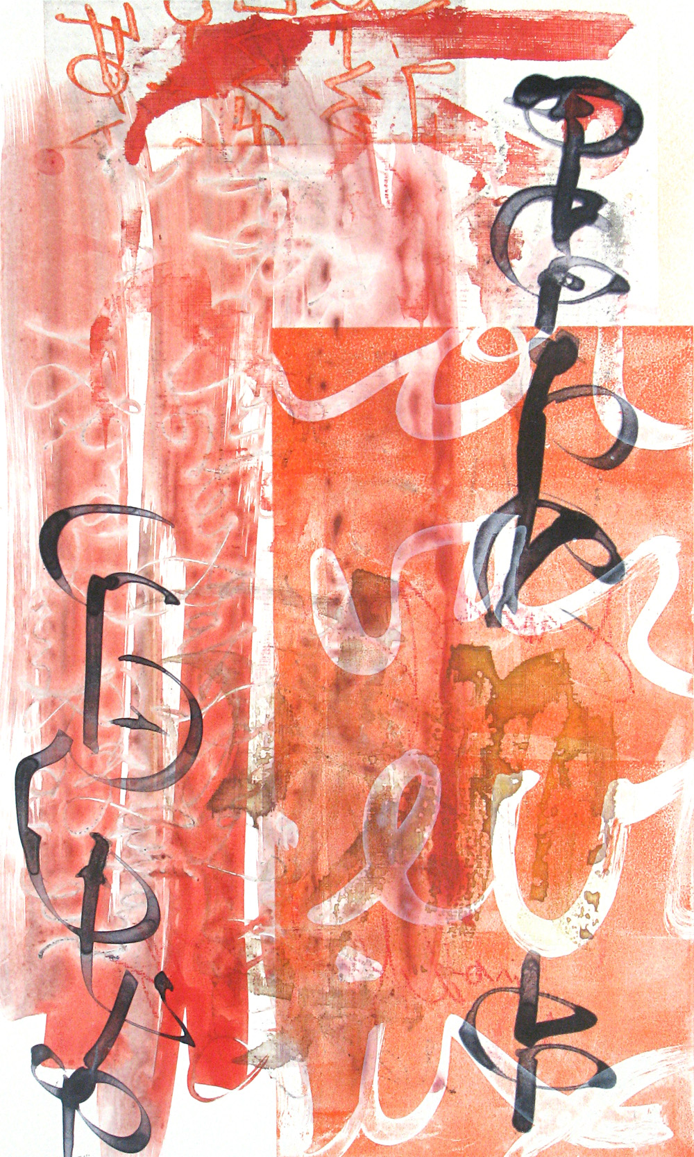 Scriptograph #21, 2012 From a series of mono prints made with Oehme Graphics in Steamboat Springs, C     Click to scriptograph gallery