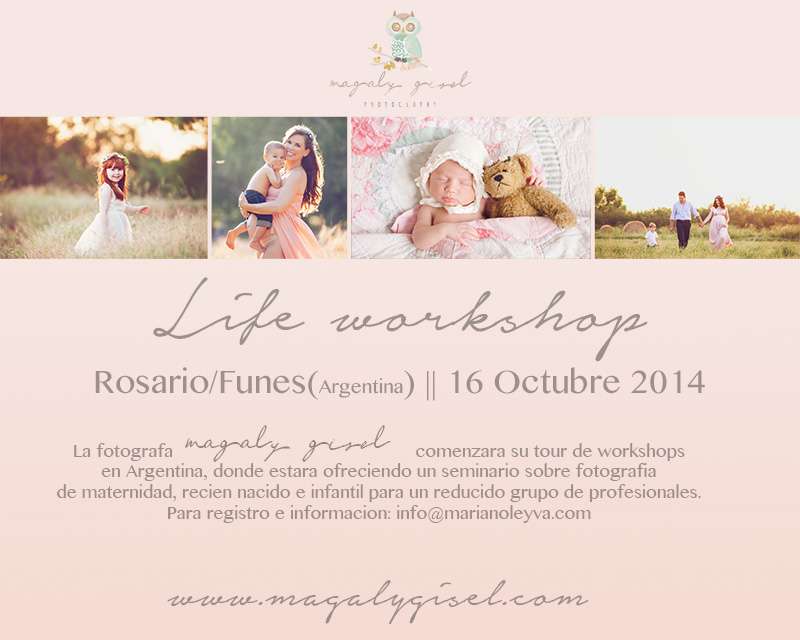 "Scheduled for October, will  be held workshop of maternity, newborn and children photography in ARGENTINA. I can't wait to meet with these amazing ""pibes""!!!!  Coming soon another USA Workshops!!!   Este proximo Octubre estare realizando un seminario de fotografia infantil, maternidad y recien nacido en ARGENTINA. Muero de ganas de encontrarme con estos increibles ""pibes"".  Muy pronto mas Seminarios en USA!!!"