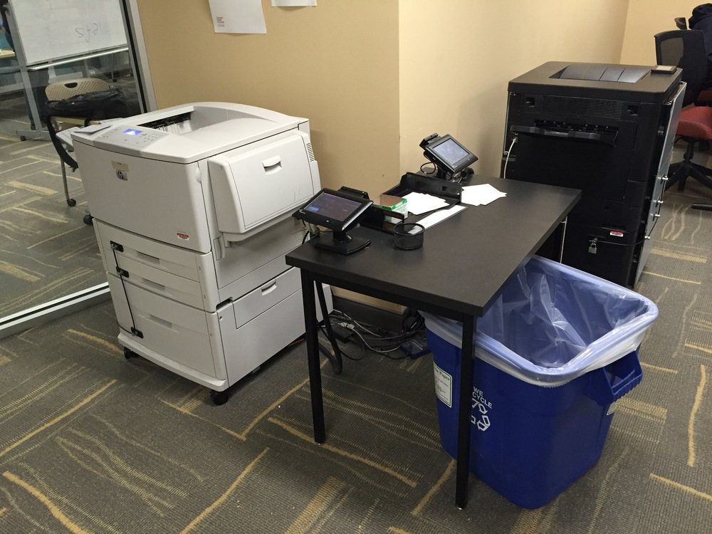 Print station in Library