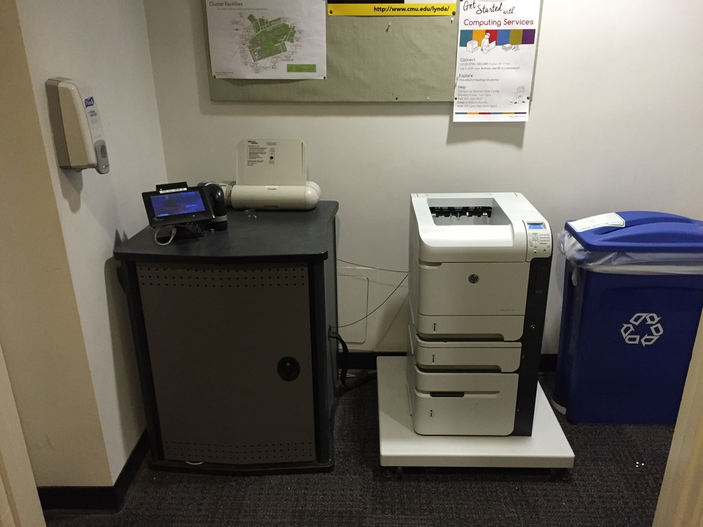 Print station in a dorm