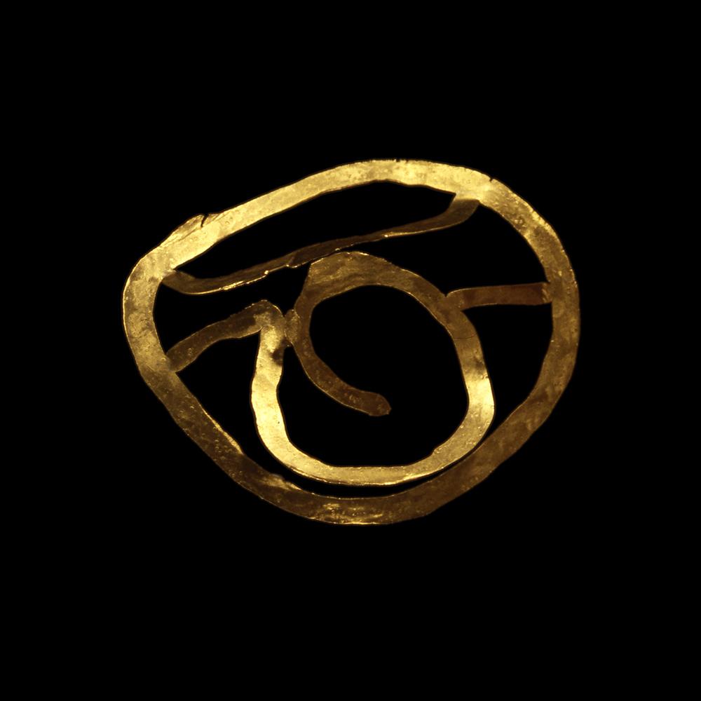 """1980s  24-karat gold, 4x4"""""""