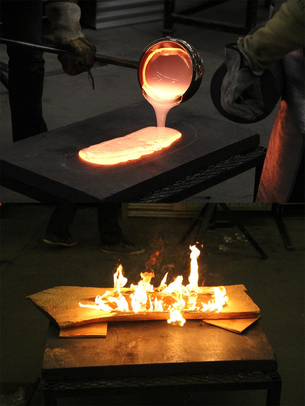 Glass Pour Experiment, April 2014