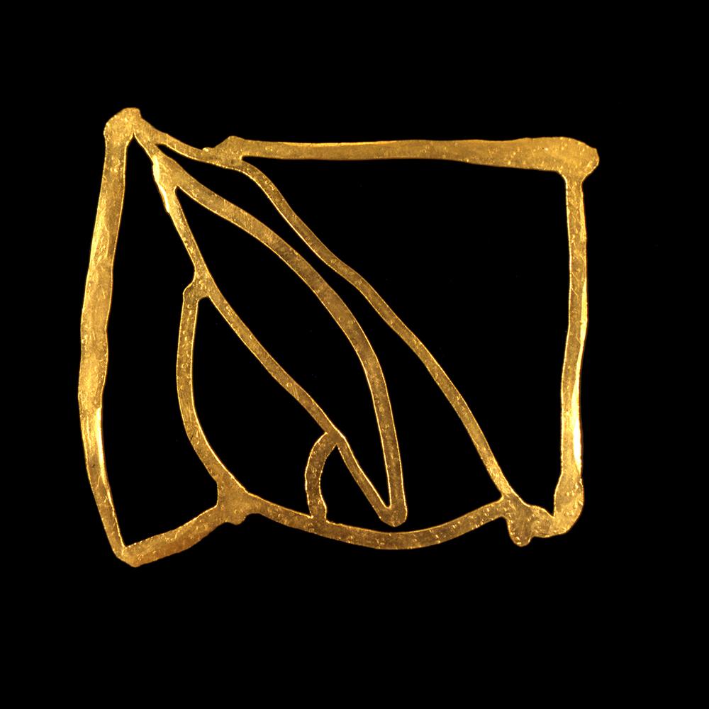 """1980s  24-karat gold, 3x4"""""""