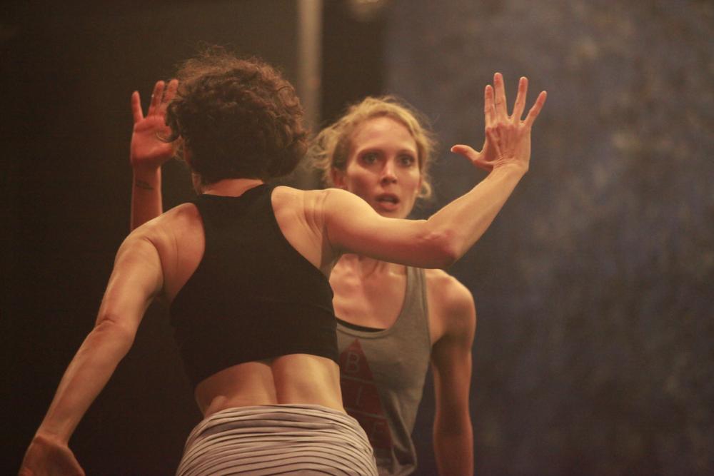 Jenn Logan & Ashleigh Doede rehearse TERRITORIES