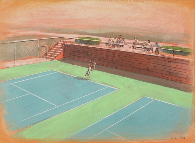 Tennis Court Rendering