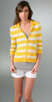 Juicy Couture Striped Pointelle Hoodie, $248