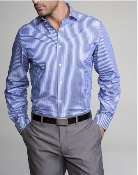 1. Thou shalt own several good dress shirts and wear hem often (whether you're wearing a tie or not!)