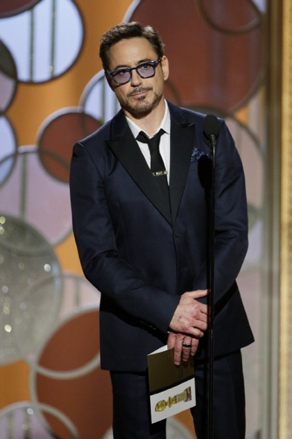 "Johnny Depp didn't show up this year, so Downey clearly felt the need to fill his usual role of donning ""quirky"" menswear with disastrous results. Between the bell-bottom pants, overlong jacket cuffs, terrible accessories and grotesque beard...it's all a big ""don't."""