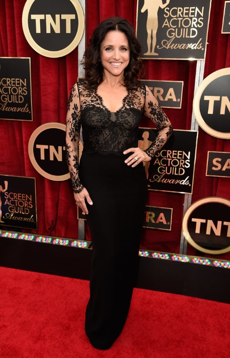 Yet again, this funny lady (who I adore in VEEP) is spot on, choosing a dress that is flattering, age appropriate for a 54-year-old and fits absolutely flawlessly.