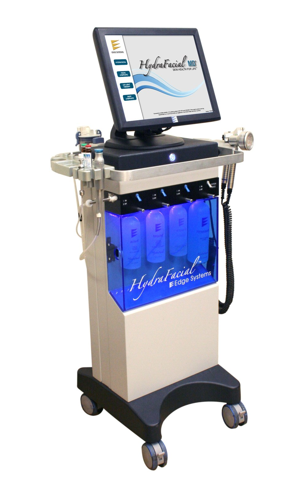 Apparently, the Vortex-Fusion® serum delivery system is what sets the HydraFacial apart from other procedures. The multi-step treatment cleanses, evenly exfoliates and extracts to remove impurities and dead skin cells while at the same time replenishing vital nutrients including Antioxidants, Peptides and Hyaluronic Acid. Thanks to the devices' superior delivery system, these performing ingredients are able to more effectively reduce the appearance of fine lines & wrinkles for results you can see and feel instantly.