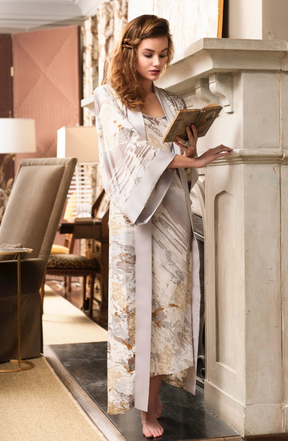 "Natori ""Forbidden City"" gown/robe set ($300)"