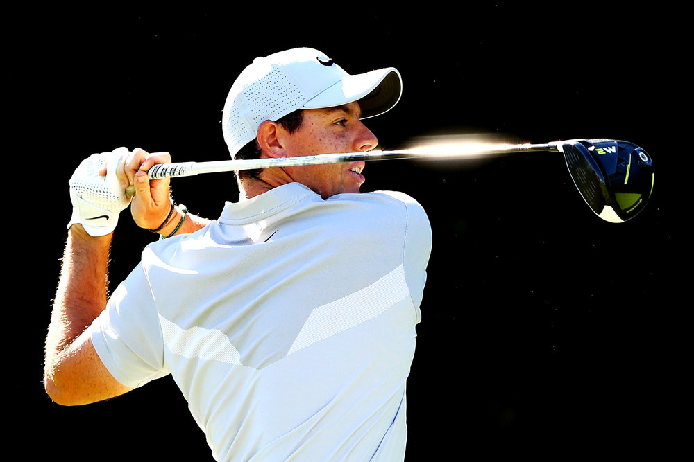 CROMWELL, CT - JUNE 22: Rory McIlroy of Northern Ireland plays his shot from the 14th tee during the first round of the Travelers Championship at TPC River Highlands on June 22, 2017 in Cromwell, Connecticut. (Photo by Tim Bradbury/Getty Images)