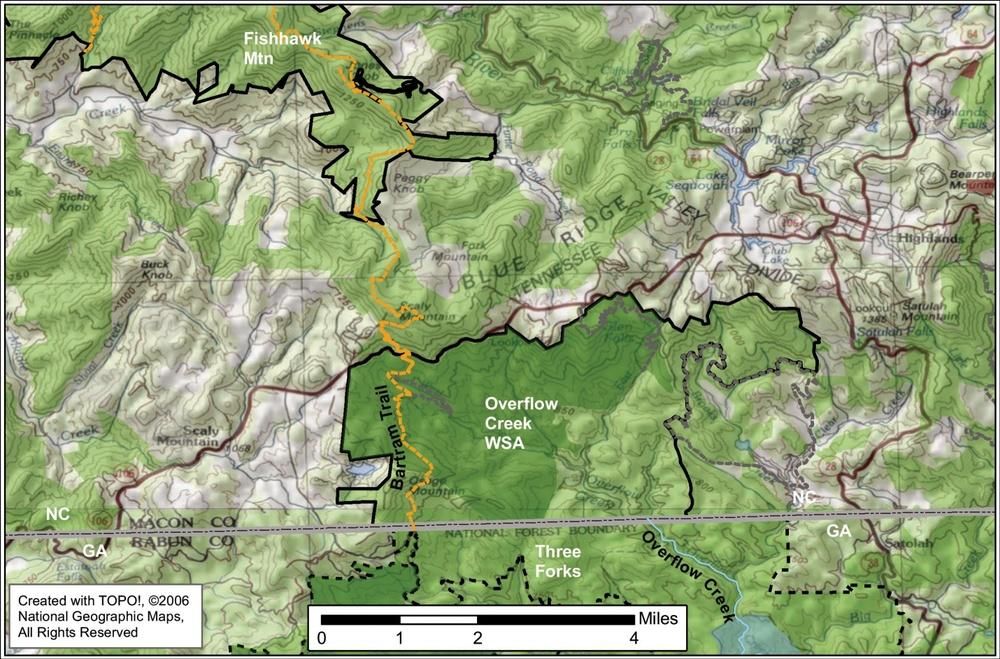 Map credit: Hugh Irwin, The Wilderness Society