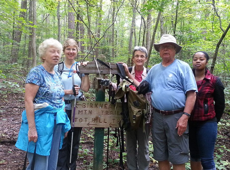 Birkhead Hike, Judith, Margaret, Priss, Henry and Ashley.jpg