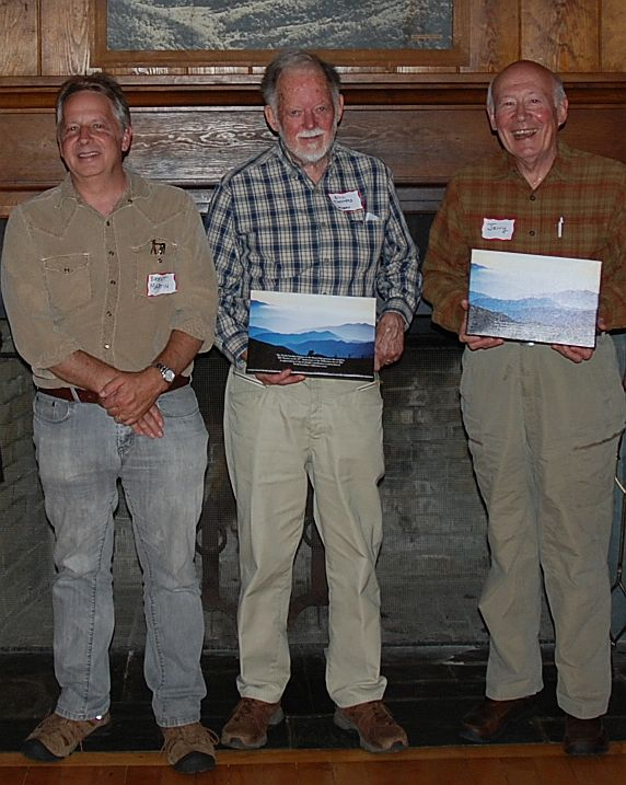 Brent Martin (left) joins Bill Thomas (center) and Jerry Weston (right) as Bill and Jerry show off their awards.