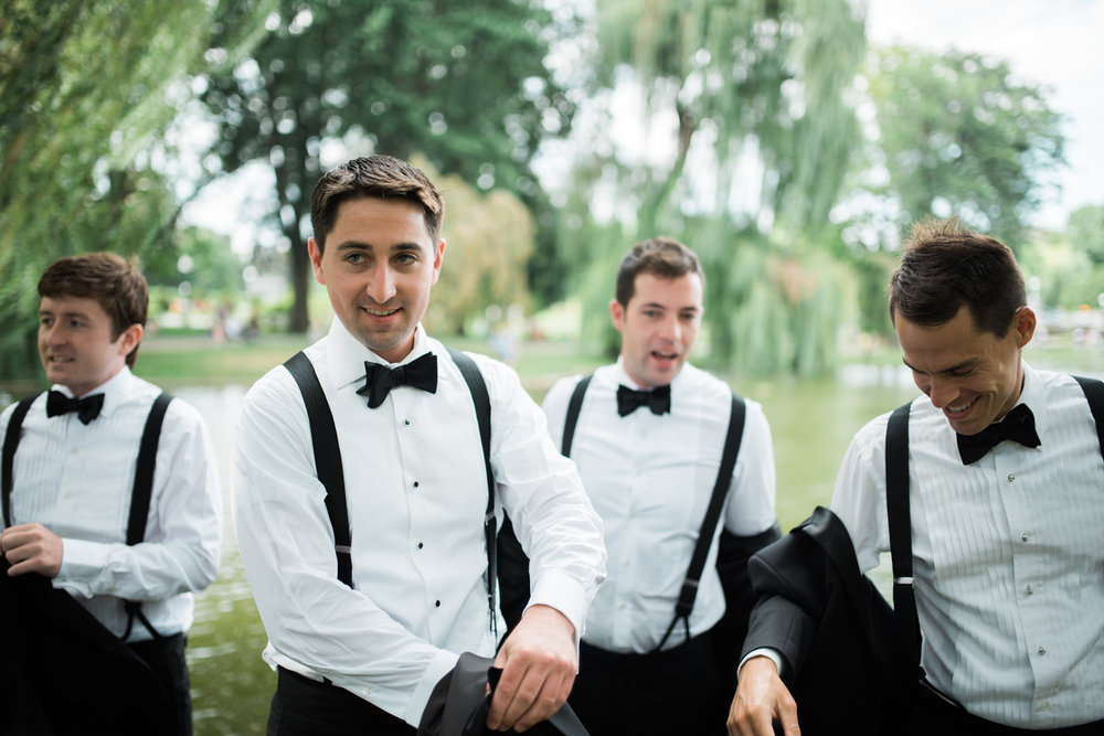 Four Seasons Boston Wedding Photography Luxury Documentary Groom Black Tie