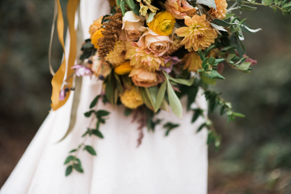 orange florals san francisco wedding photographer detail