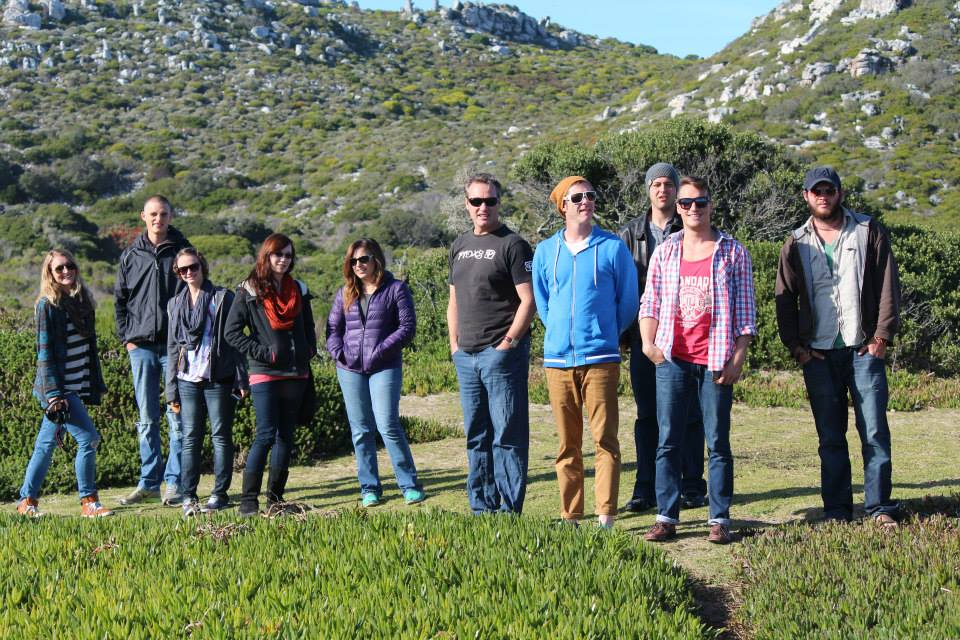 Julie, Jan, Molly, Lauren, Angie, Raymond, Greg, Tyler, me and Kyle on our trip to Cape Point.