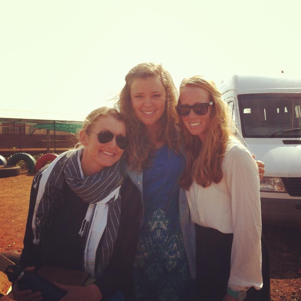 Lauren, Chelsey and me serving in Nsoko, Swaziland in August 2013.