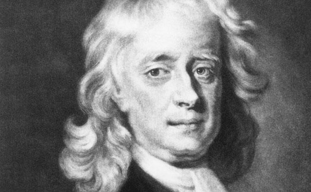 Sir Isaac Newton (1642-1727), p hoto credit:http://scienceworld.wolfram.com