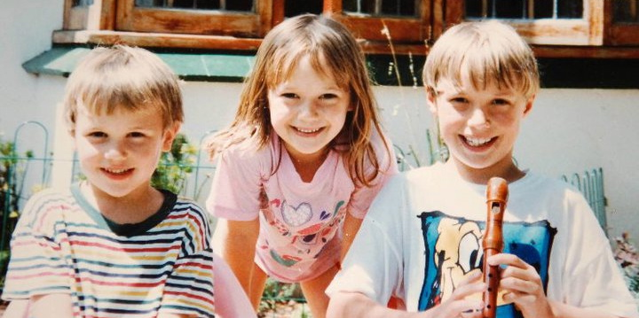 That's me as a kid on the right with my brother Chase and sister Lauren.