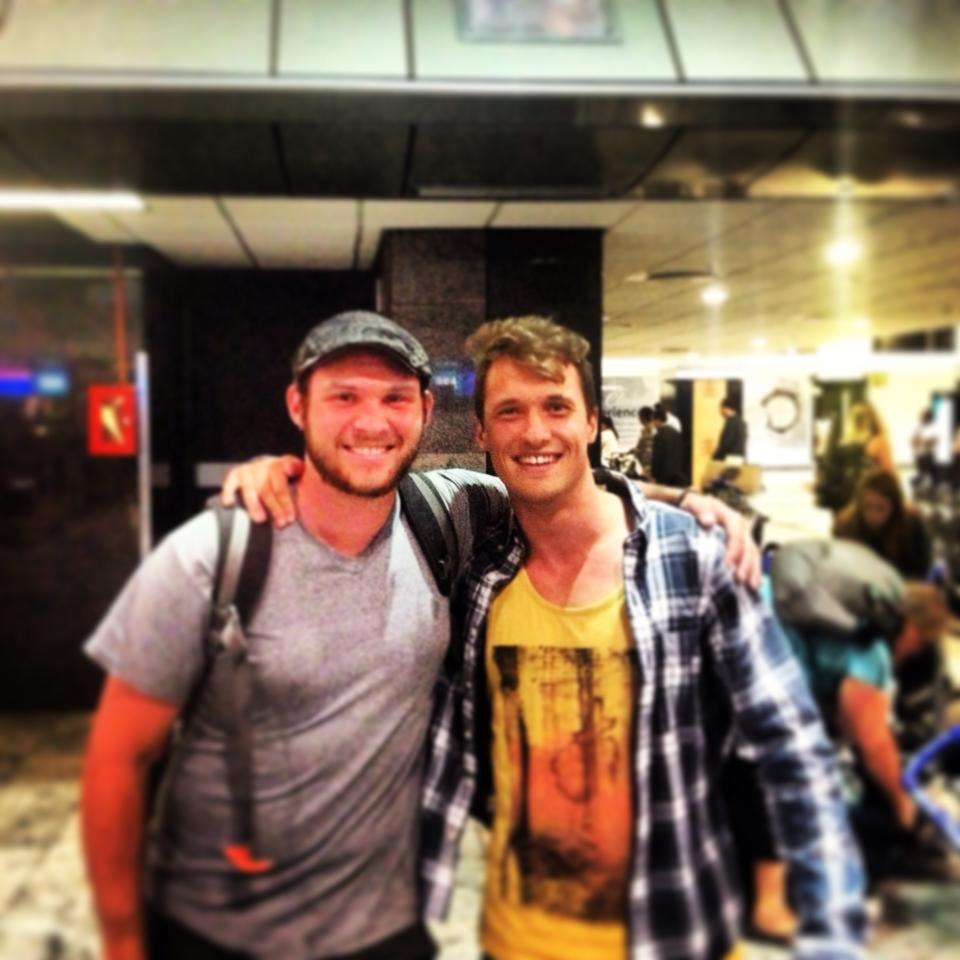 Kyle and me at Jo-Burg's airport.