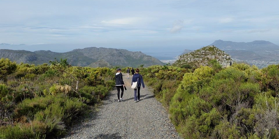 Four best friends hiking in Cape Town: a discerner, a craftswoman, a teacher and an exhorter—among other things.