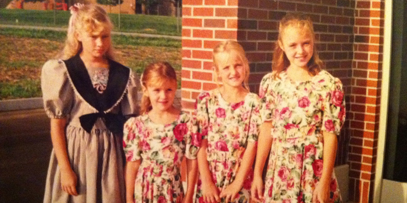 That's me, second from the right, rocking one of my Dickey sister church outfits.