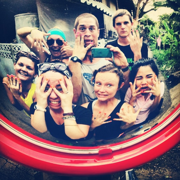 Julie with her team (months 9-11) in the slums of Chiang Mai, Thailand.