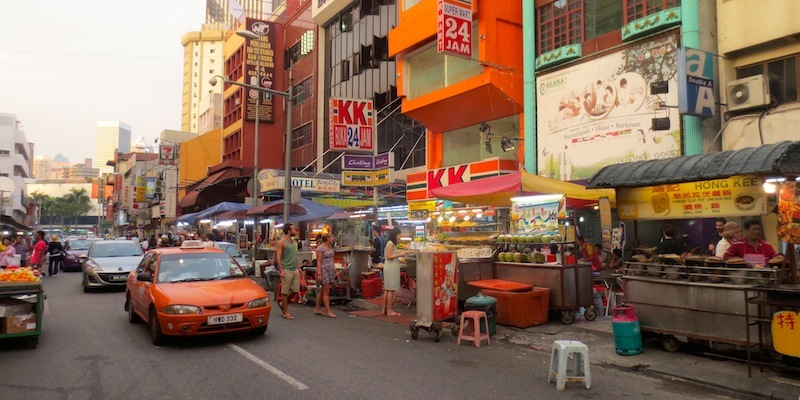 A view of the streets in Kuala Lumpur.