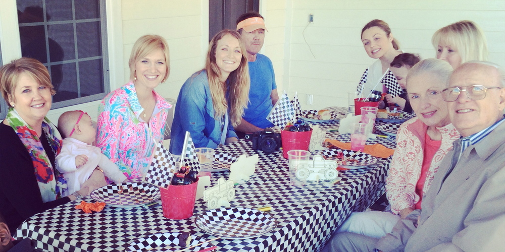 Enjoying time with family at Britten's 2nd birthday party.