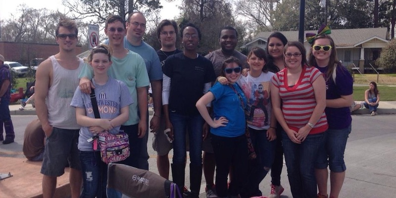 Me with Daniel, Brittany, and all of the Chi Alpha leaders at NSU in Lafayette.