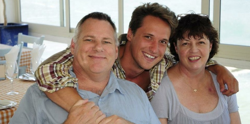 Me with Val and her husband Sav in December 2012.