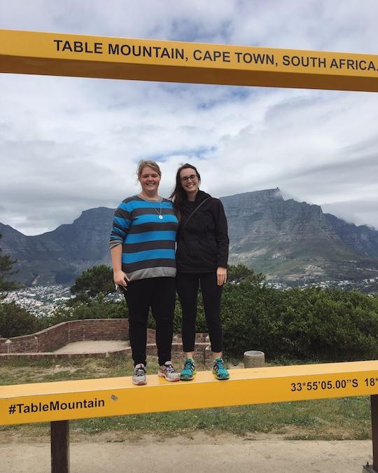 Monz and me in front of Table Mountain.