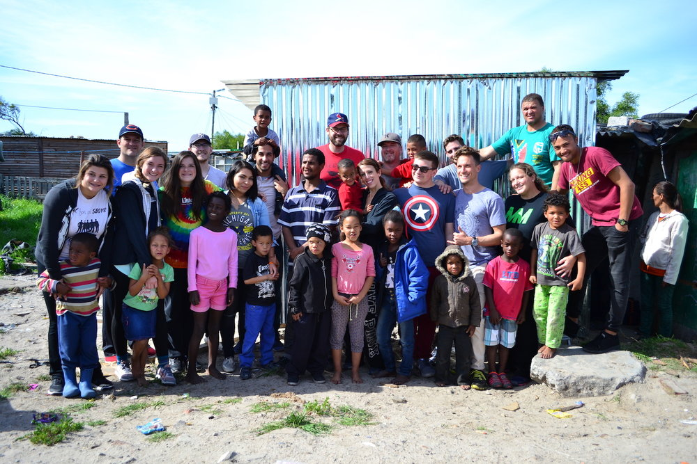 A missions team helped build a house for a local family.