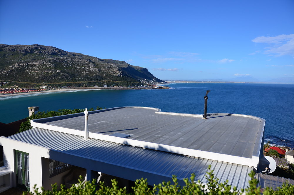 The view over False Bay from the back of our missions hosting house!