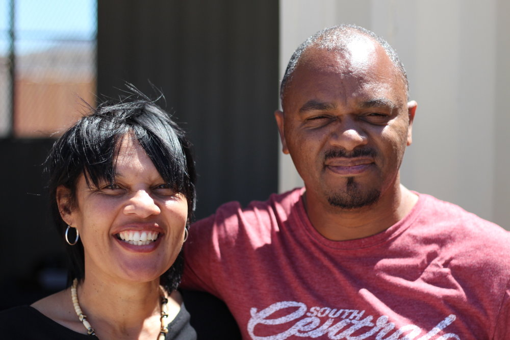 Ivan and Bronwyn Jones at the Revelation Ministries base in Lavender Hill.