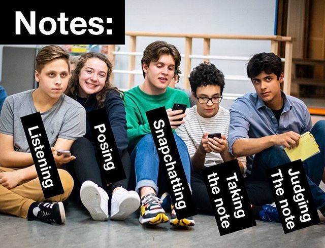 Which notes style are you? 🤨 #gcpatitanic EDIT: GCPA does not endorse Snapchatting or any other social media activity during notes. @brookealexandra.photography