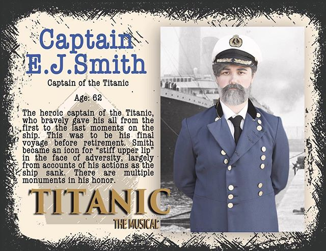 The Captain is played by Noah! Read all about him and then come see Titanic: April 12-14! #gcpatitanic