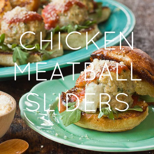 Chicken & Mozzarella Meatball Sliders