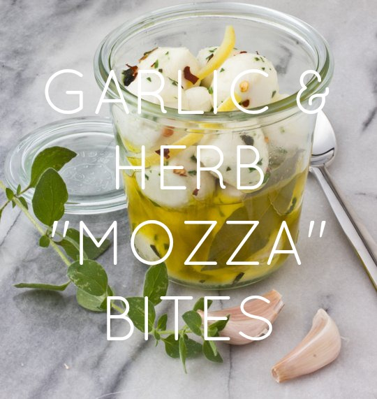 Garlic and Herb Marinated Mozzarella