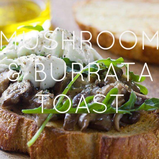 Mushroom and Arugula Bruschetta