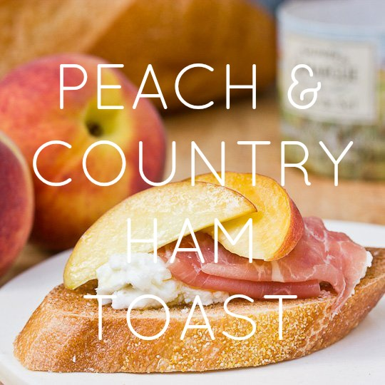 PEACH AND PROSCUITTO BRUSCHETTA