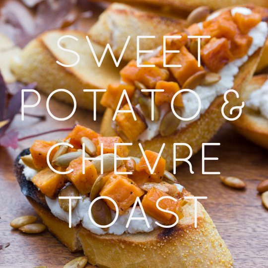 Sweet Potato & Goat Cheese Bruschetta