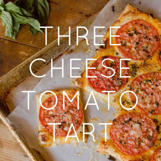 Three Cheese Tomato Tart